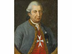 Ecole française fin XVIII° sičcle Portrait présumé de A.J de Balanthier de Lantage (1711-1791) Bailli Grand-Croix, Commandeur de l'Ordre de Malte