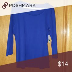 Nine West Royal Blue 3/4 sleeves L NWT Light weight NWT Size L Bust 36 Length 26. ?? The color! Tops Blouses