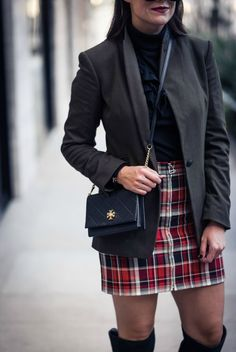 the perfect plaid mini | as seen on The Styled Fox, a Houston Fashion Blog