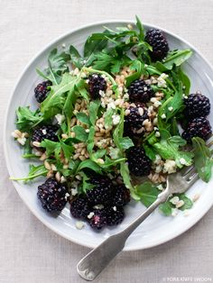 Blackberry, Farro and Arugula Salad