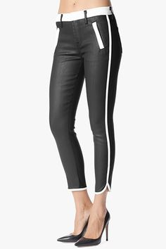 SEVEN FOR ALL MANKIND Sportif Crop in Black and White #7FAM - $125