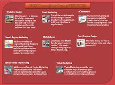 Website Design  -   http://mgrconsultinggroup.com/website-design/   Social Media Marketing  - http://mgrconsultinggroup.com/social-media-marketing/   Search Engine Marketing  -  http://mgrconsultinggroup.com/search-engine-marketing/   Video Marketing  -  http://mgrconsultinggroup.com/video-marketing/   eCommerce  -  http://mgrconsultinggroup.com/ecommerce/   Print/Graphic Design  -  http://mgrconsultinggroup.com/print-graphic-design/