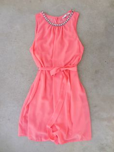 Coral Meadow Grass Party Dress