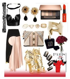 """""""Black Tie"""" by dezifashioncollection on Polyvore featuring Roksanda, Posh Girl, Giuseppe Zanotti, BLANK, Dolce&Gabbana, Chanel and Oliver Gal Artist Co."""