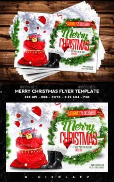 Merry Christmas Flyer — Photoshop PSD #christmas tree #sexy • Available here → https://graphicriver.net/item/merry-christmas-flyer/13873969?ref=pxcr