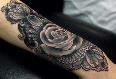 Black + Grey Rose Piece | Georgina Liliane