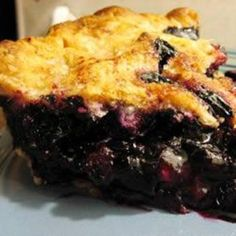 Blueberry Pie  Ingredients:  3/4 cup white sugar  3 tablespoons cornstarch  1/4 teaspoon salt  1/2 teaspoon ground cinnamon  4 cups fresh blueberries  1 recipe pastry for a 9 inch double crust pie  1 tablespoon butter