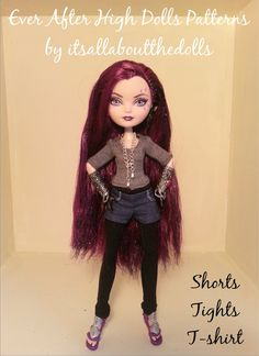 Ever After High dolls pattern for shorts by allaboutthedolls