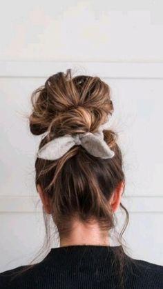 Bun Hairstyles, Pretty Hairstyles, How To Cut Your Own Hair, Hair Regrowth, Love Hair, Hair Videos, Hair Today, Scrunchies, Hair Pieces