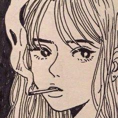 beige and black line art. Pretty Art, Cute Art, Aesthetic Art, Aesthetic Anime, Aesthetic Drawing, Art Inspo, Art Sketches, Art Drawings, Indie Drawings
