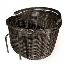 Rattan Classic Oval Bike Basket - Brown. Pretty and practical for spring cycling