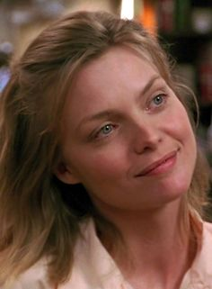 Michelle Pfeiffer as Frankie in the movie Frankie & Johnny.