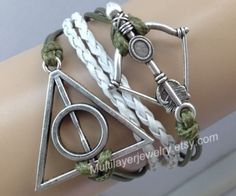 Arrow Bracelet, Bow and Arrow,Harry Potter,Infinity and Beyond,Leather,Deathly Hallows,Friendship, Bridesmaid, Graduation