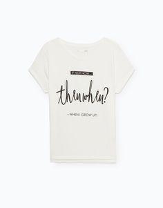 T-SHIRT ESTAMPADO POSICIONAL - Tops e T-shirts - Woman - | Lefties Portugal