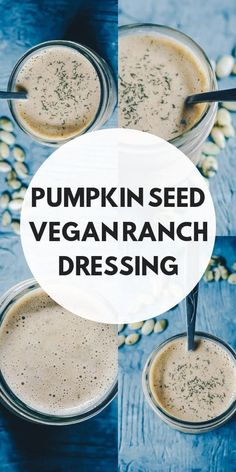 This vegan ranch dressing recipe is made with pumpkin seeds for extra creaminess and nutritional value. It is easy, healthy, delicious, keto friendly and packed with good for you ingredients. Whether for dipping your favorite appetizers or dressing your salads, this vegan ranch dressing has it got it all! #veganranch
