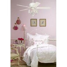Fun light kit to dress up a bedroom ceiling fan.