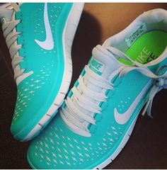 Absolutely love these aqua Nikes!!