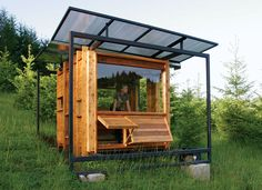 With a 100 square feet, it was designed to be a writing studio for a philosophy professor with a love for nature!