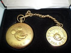 Disney Mickey Mouse Watch Colibri  Discontinued Pocket Watch with Mickey Fob NIB