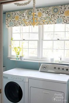 Since I spend so much time in the Laundry room it definitely needs some decor! I like this one. Bright and cheerful!