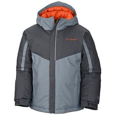 Columbia Boys Stun Run Jacket Tradewinds Grey Small ** Visit the image link more details.