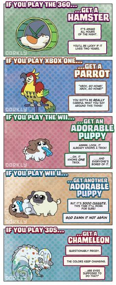 Dorkly Comic: The Perfect Pet For Every Gamer