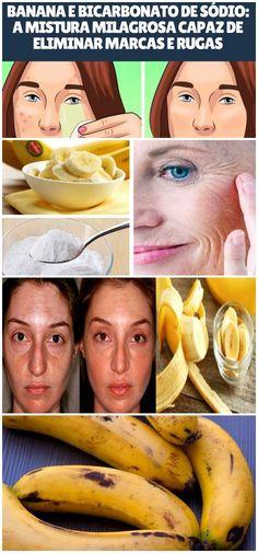 Sabia que banana e bicarbonato fazem maravilhas na pele? #pele #beleza #banana #bicarbonato #dicasdebeleza #dica