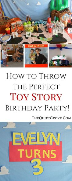 Such great ideas for Throwing a Toy Story Birthday Party!
