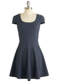 New Internship Dress. Take your new law firm by storm by arriving in this fresh and professional dress! #blue #modcloth