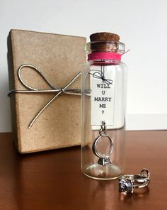 A personal favorite from my Etsy shop https://www.etsy.com/listing/241742771/marry-me-proposal-bottle-creative-way-to