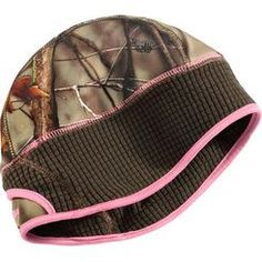 f91bb1a25a23 This camo beanie features a comfort stretch waffle micro fleece headband and  includes a built in ponytail holder. Pairs great with our EVO Camo  softshell ...