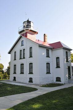 Grand Traverse Lighthouse on Lake Michigan, Traverse City, MI