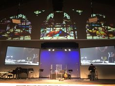 Shepherd Multimedia used Chief's RPA projector mounts, LTMU and display mounts to provide a state of the art look at First United Methodist Church in Coppell, Texas Church Stage Design, Outdoor Privacy, Decorative Screens, Cold Frame, Window Screens, Video Wall, Space Architecture, Digital Signage, Worship