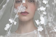 Romantic drop veil strewn with petals - Drop Veil, Couture, Sheer Fabrics, Bridal Boutique, Dream Dress, Bridal Dresses, Wedding Planning, Whisper, Wedding Inspiration