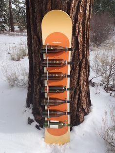 Forest Furniture Tahoe - Snowboard Wine rack, $175.00 (http://www.forestfurnituretahoe.com/products/snowboard-wine-rack.html/)