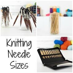 The number of knitting needle sizes and types can be overwhelming for a beginner. Find out what you need to know about the ins and outs of knitting needles. Beginner Knitting Patterns, Knitting Needle Sets, Arm Knitting, Knitting For Beginners, Knitting Stitches, Knitting Needles, Knitting Paterns, Knitting Scarves, Knitting Tutorials
