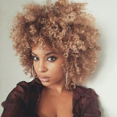 Natural hair. I LOVE this color!!!!!