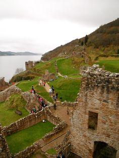 Castle at Locke Ness, Scotland