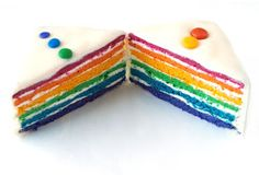 CHEZ LUCIE: Duhový dort Learn To Cook, Tofu, Sweet Recipes, Rainbow, Sugar, Cookies, Cake, Birthday, Desserts