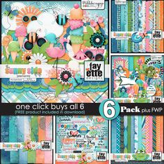 The Sunny Side of Life 6-Pack ~ Plus FWP! By Fayette Designs