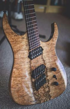 Another shot of this amazing Ormsby with cocobolo fretboard and spalt maple top.