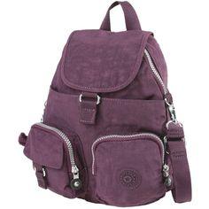 Kipling Rucksacks & Bumbags (5.195 RUB) ❤ liked on Polyvore featuring bags, handbags, deep purple, purple purse, kipling handbags, faux-leather backpacks, backpack purse and purple backpack