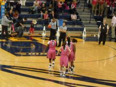 The University of Toledo Women's Basketball Team supported #Komen by wearing #pink during the 2012 Rockets for a Cure game!