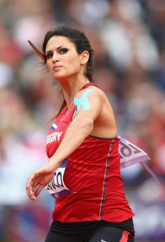 Leryn Franco of Paraguay competes in the Women's Javelin Throw Qualification on Day 11 of the London 2012 Olympic Games at Olympic Stadium on August 2012 in London, England. (Photo by Michael Steele/Getty Images) Leryn Franco, Javelin Throw, Olympic Athletes, Action Poses, Sports Stars, Sports Photos, Summer Olympics, Track And Field, Athletic Women