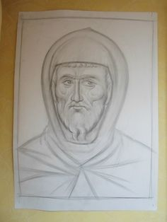 Frescele lui Alexandru Soldatov (Partea a Byzantine Icons, Orthodox Icons, Drawing Techniques, Pencil Drawings, Icon Design, Origami, Creations, My Arts, Album