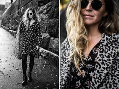 ♥︎ Stella, leoparditakkinen tyttö Second Femalen takki- ja mekkokaunokaisissa.
