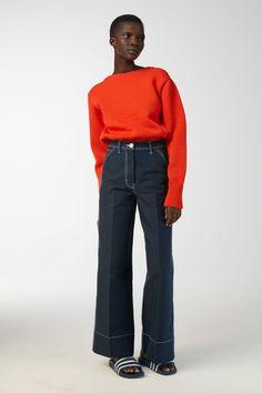 Boxy Polyamide Jumper - Orange - Knitwear - ARKET BE