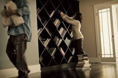 #diy - DIAGONAL BOOKSHELF TUTORIAL