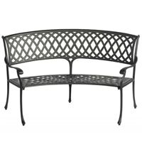 Amalfi Curved Aluminium Garden Bench by Bramblecrest - Cast Aluminium Garden Furniture
