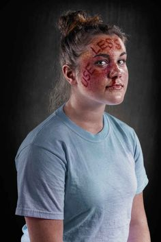 The photos aim to provoke conversation about the problems of domestic violence, child abuse, and bullying. | Photo Project Aims To Illustrate The Pain Inflicted By Abusive Language